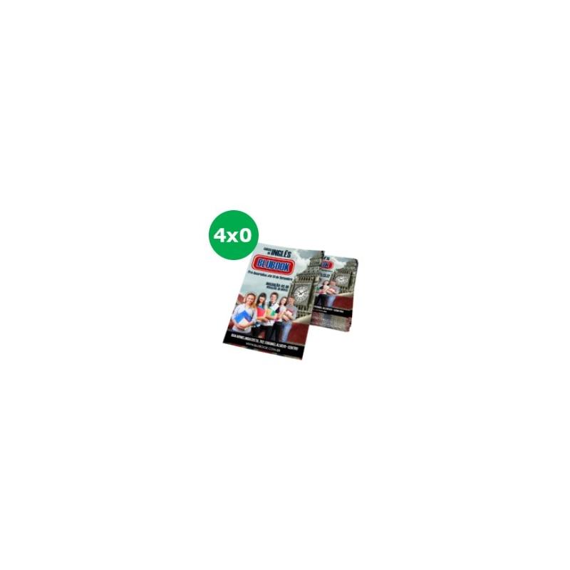 Folder Couchê 120g Sem Verniz 15x10 - 4x0 - 2500 UNID