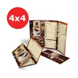 Folder Couchê 120g Sem Verniz 21x29,7 - 4x4 - 1000 UNID